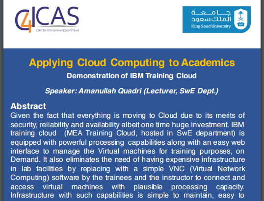 Applying Cloud Computing to Academics